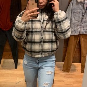 American Eagle Outfitters Plaid Bomber Jac…